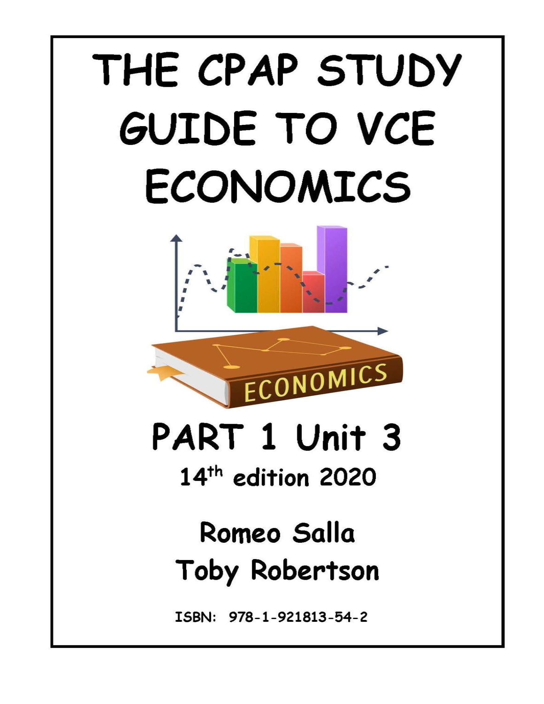 The CPAP Economics Study Guide 2020 part 1